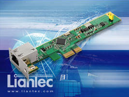 PCIe Gigabit Ethernet Card suits SFF computing applications.