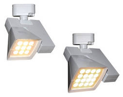 Dimmable LED Track Luminaire has lockable hot aiming mechanism.