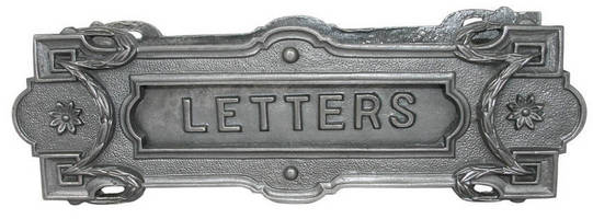 Cast Iron Letter Slot combines security and vintage styling.