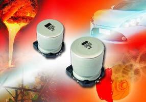 Surface-Mount Aluminum Capacitors operate up to 150°C.
