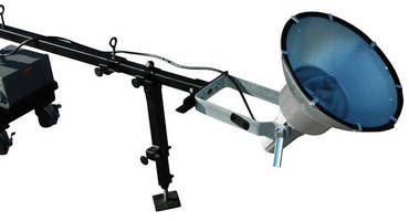 Adjustable Telescoping Boiler Light has folding mounting arm.