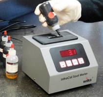 Portable IR Analyzer measures soot percent in diesel engines oil.
