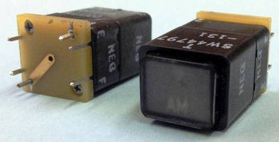 Lighted Pushbutton Switch features split-image design.