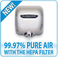 XLERATOR Hand Dryers with HEPA Filtration System