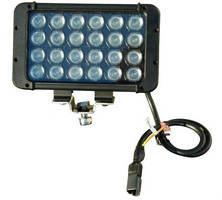 Dual Color LED Light Bar produces white and red output.