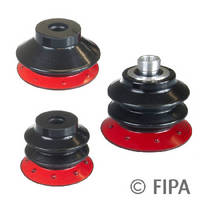 Wear Resistant Bellows Suction Cups handle abrasive products.