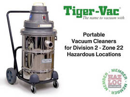 Portable Vacuum Cleaners for Division 2 - Zone 22 Hazardous Locations