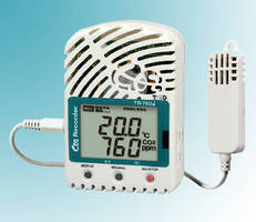 Data Logger measures CO2, temperature, and humidity.