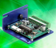 Stepper Motor Driver includes onboard DIP switches.