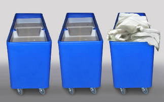 Laundry Feeder Truck positions linens at correct height.