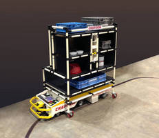 Creform BST Style AGV and Flexible Kitting Cart Eliminates Line-Side Assembly Storage