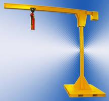 Counterbalanced Portable Jib Crane offers 360° rotation.