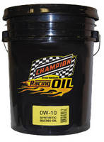 Synthetic Drag Racing Oil resists evaporative losses.