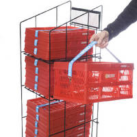 Polypropylene Crate pops open to transport items.