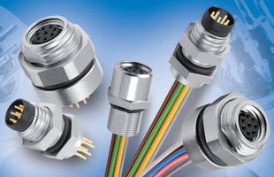 M8 Eight-Pin Receptacles suit space-constricted applications.