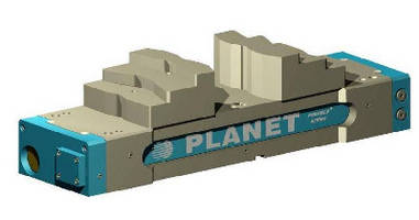 Hydraulic Vise permits OD and ID self-centering clamping.