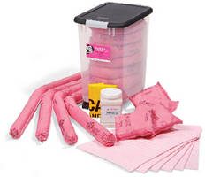 Hazmat Spill Kit comes in see-through container.