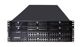 Quad Processor Networking System provides up to 128 LAN ports.