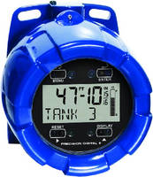 Tank Level Meter displays level in feet and inches.