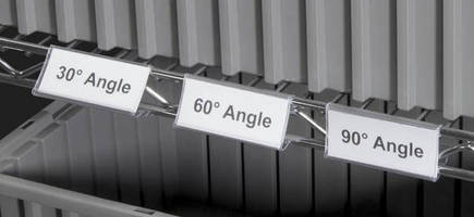 Wire Shelving Label Holders Adjust To Facilitate Viewing