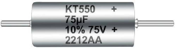 Tantalum Through-Hole Capacitors feature 75 V rating.