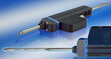 Tubular Linear Motor integrates amplifier and controller.