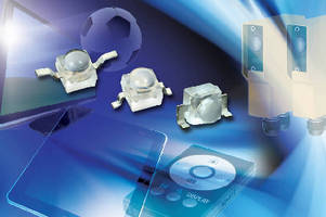 Infrared Emitting Diodes offer wide-dome lenses.