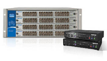 KVM Extenders and Network Switch form 10 Gbps solution.
