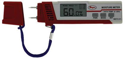 Digital Moisture Meter also measures temperature and RH.