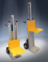 Two-Wheel Hand Truck features powered lift.