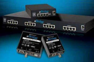 Ethernet over Coax/PoE Adapters transmit IP video, data, power.