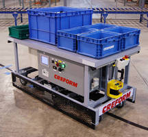 Programmable AGV carries up to 900 lb of cargo.
