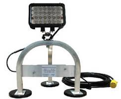 LED Work Light features magnetic mount pedestal base.