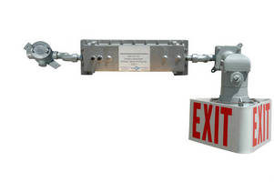 Explosion-Proof Exit Sign features emergency backup battery.