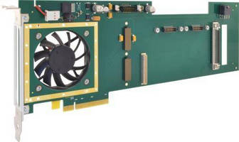 Carrier Card interfaces XMC mezzanine modules to PCIe bus.