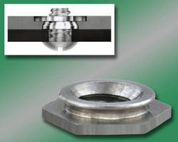 Self-Clinching Flush Nuts install without protrusions.