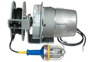 LED Light with Reel operates in hazardous locations.