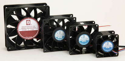 Vaneaxial DC Fans deliver high airflow from compact packages.