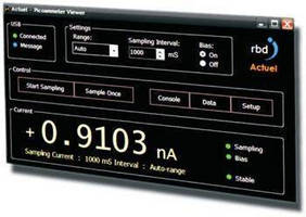 USB Picoammeter comes with sync-enabled data logging software.