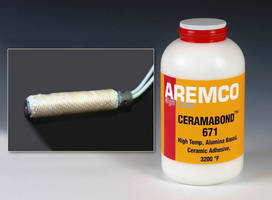 High-Temperature Ceramic Adhesive maintains bond at 3,200°F.