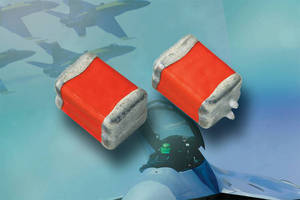 Solid Tantalum Chip Capacitors work with +28 V power supplies.