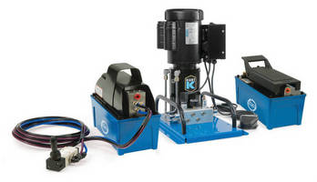 Pneumatic/Hydraulic Pumps serve precision clamping applications.