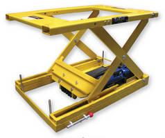 Scissor Lift Table utilizes electric belt drive.