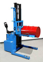 Power-Propelled Walkie Stacker accelerates precise stacking.