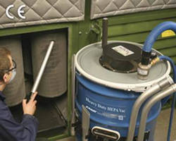 Heavy-Duty HEPA Vacuum moves more material with less wear.