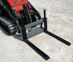 Pallet Forks increase productivity for mini skid steers.