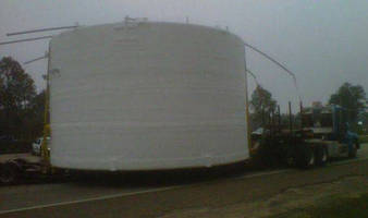 B & D Plastics Moves a 20,000 Pound Giant Chemical Storage Tank from Ocean Springs Mississippi to Texas