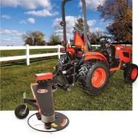 Hitch Fence Line Mower features tractor-mounted design.