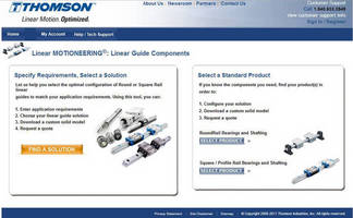 Optimize the Performance of Your Next Machine with Linear MOTIONEERING®: Linear Guide Components from Thomson