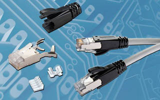Category 6a RJ45 Plugs accept AWG23 to AWG24 horizontal cables.